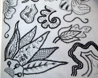 Erica Wilson Crewel Embroidery Book 1962 Vintage Crewel Embroidery Book