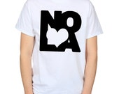 Love NOLA TShirt Heart New Orleans Clothing American Jazz Blues Music Shirt Travel Gift Logo Graphic Tee