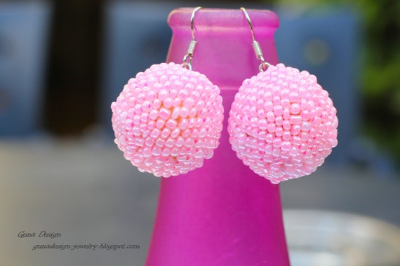 Cherry Blossom Color Dangle Earrings