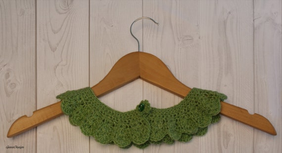 Crochet Peter Pan Collar in Mint Green