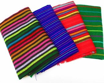 Fabric Bundles, 4 Half Yards, Woven Textiles, Southwestern Decor, Tribal Party Decor, Fiesta Decorations, Tribal Serape, Aztec Fabric