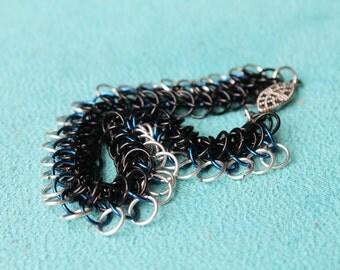 Bright Lights fringe chain maille bracelet