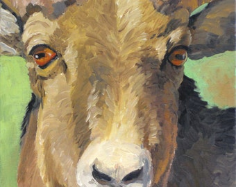"Spirit Animal, Bighorn Sheep, 8"" x 10"", oil painting,  Limited Edition Giclee Print"