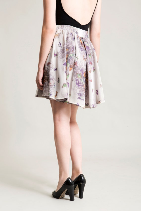 Women skirt, Circle skirt, Mini skirt, Knee Length Skirt, Floral Skirt
