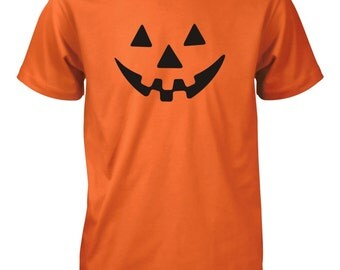 Halloween Pumpkin Face T-Shirt for Men