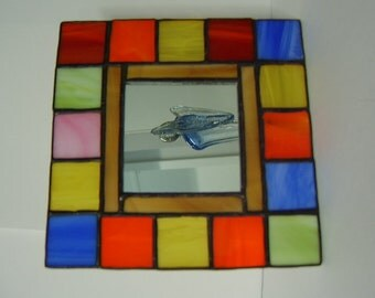 Mosaic Little Tiffany Style Stained Glass  Mirror