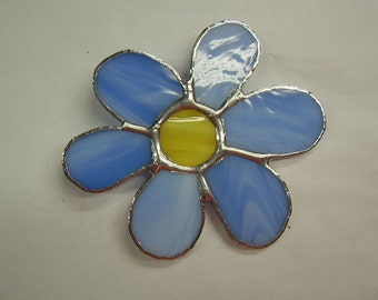 Flower Tiffany Style Stained Glass  Brooch