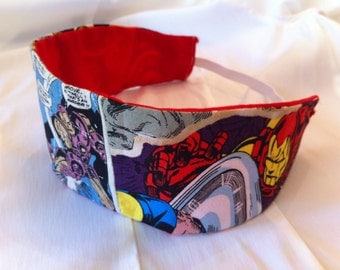 Iron Man Reversible Fabric Headband, Marvel, Avengers, Superhero, Comic Book