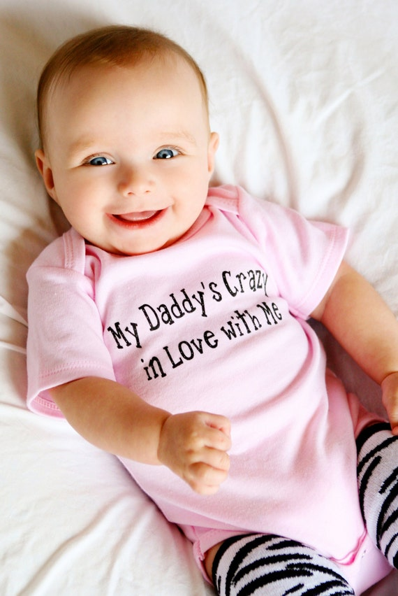 Items similar to Baby Girl Daddy, Baby Girl, Baby Girl ... Cute Baby Girl In Love