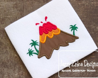 Volcano Applique embroidery Design