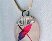 Origami Crane Pendant with Hemp Necklace