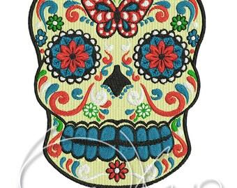 MACHINE EMBROIDERY FILE - Sugar skull, Calavera