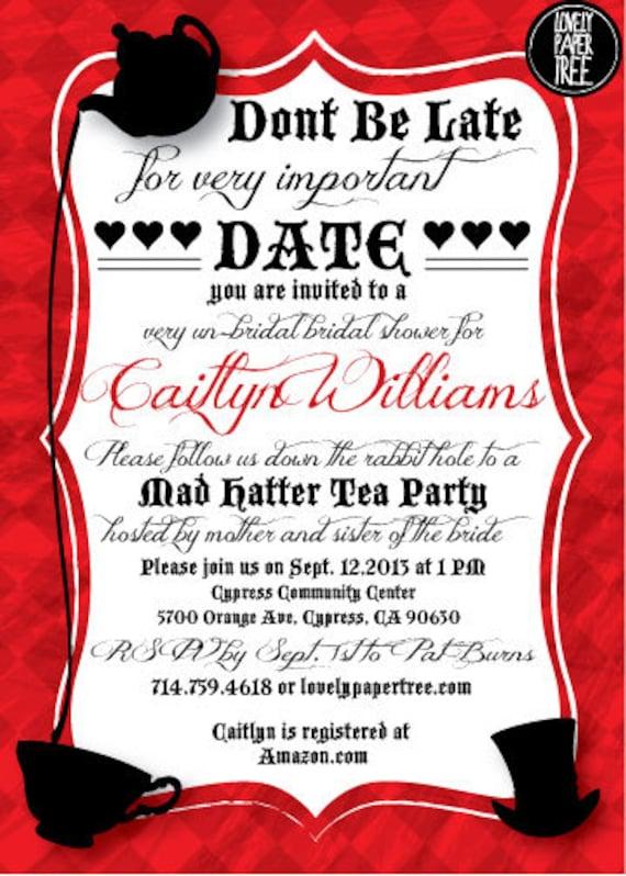 Alice In Wonderland Themed Wedding Invitations for luxury invitations layout