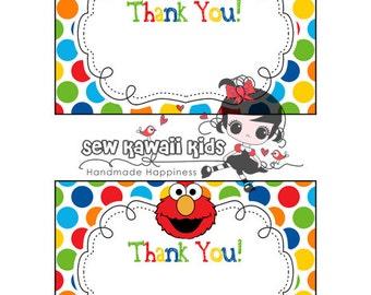 elmo thank you card   etsy, Birthday invitations