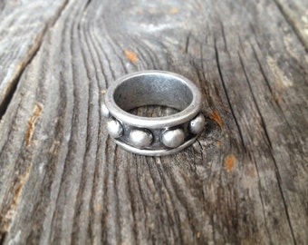 """Silver """"Durango"""" Studded Ring - Size 7"""