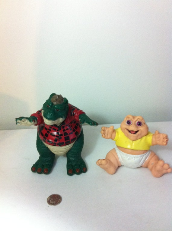 The Dinosaurs Disney Dad & Baby Vintage Toy TV show 1980s