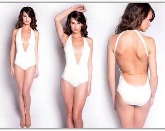 Cream 'V' Swimsuit
