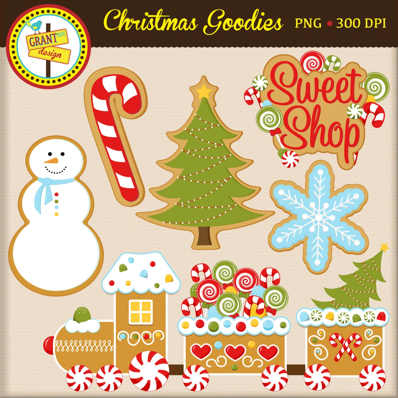 Christmas Cookies Clip Art Gingerbread Train Christmas