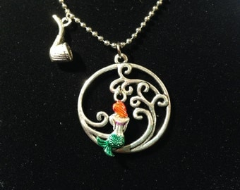 Handmade Disney Ariel Inspired Necklace