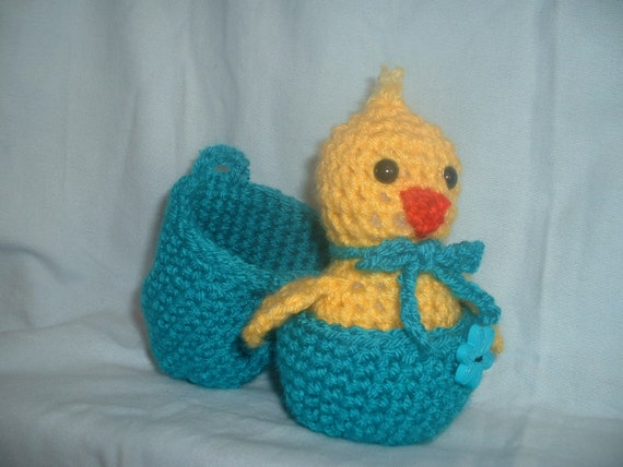 Chick in Egg Amigurumi Easter gift by CrochetByGay on Etsy