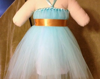 Blue Flower Girl Dress (Different Color Options Available)