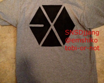 EXO Shirt front and back designs S, M, L, XL