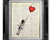 Dorm Wall Decor, College GRADUATION Gift Her, Little GIRL Room Decor Teen Girl GIFT, Best Friend Go Away Gift, Salute to Banksy Balloon Girl