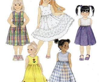 McCall's 2629 Sewing Pattern Childrens & Girls Dress Size CF 4-5-6  Used