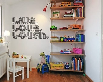 Live love louch wall decal home office decor