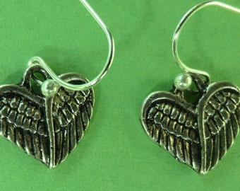 Angel Wings Heart Earrings