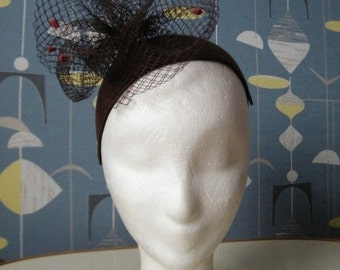 headpiece fascinator hat 40s 30s style