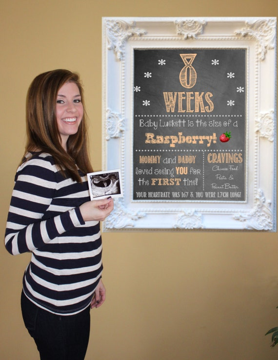Printable Pregnancy Countdown Chalkboard Photo Props | Weekly Series | Weeks 8-40 | 33 Files | *Digital Files* | by MMasonDesigns