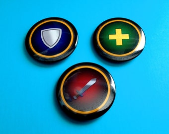 World of Warcraft Dungeon/Raid Role Pinback Buttons