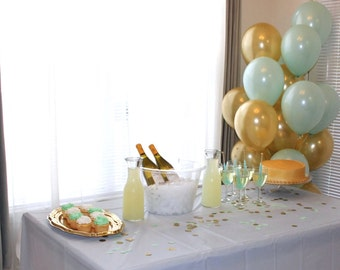 Mint and Gold Party in a Box Package