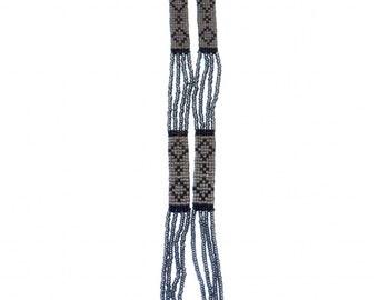 The 1920's Art Deco Beaded Sautoir DIAMANTE Bohemian Flapper Necklace