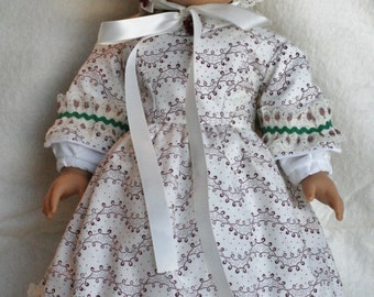 SALE **** 1860's style Day Dress for 18 in Doll