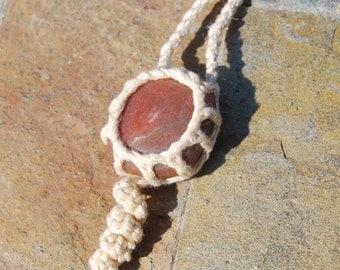 Crocheted Quartz Necklace