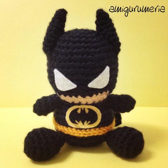 Amigurumi Batman Deutsch : Amigurumi BATMAN superheroe muneco peluche de por Amigurumeria