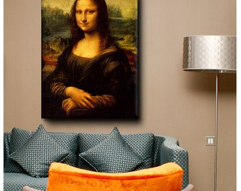 "30% OFF! Canvas Print ""Mona Lisa"" By Leonardo da Vinci print Giclee Repro photos decor reproduction gallery Art fine art poster Ar"