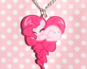 Pinkie Pie My Little Pony Friendship Is Magic sleeping heart necklace