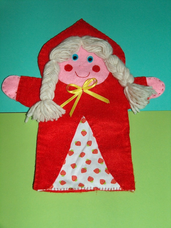 Felt Hand puppet Little Red Riding Hood