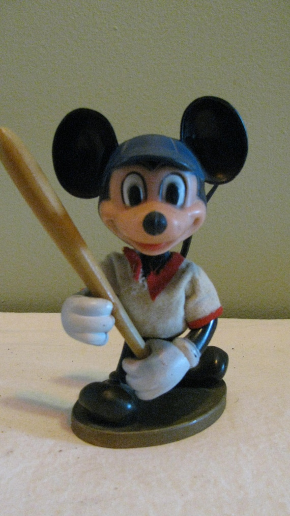 Collectible Mickey Mouse Baseball Player Plastic Collectible