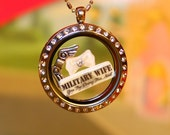Military Wife Floating Charm - You Try Doing This Sh!t - Marine, Army, Air Force, Navy, Ranger, & More - Fit Glass Living Memory Lockets