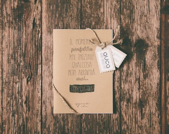 """Diary """"Now"""" - Notebook - Kraft Paper - The perfect time to start something never arrives. Start now!"""