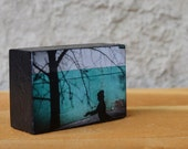 Photo BLOCK - Fine Art Object, Small Photo Block, wall art, freestanding, home decor, handmade, unique gift, wood block, Shel Silverstein