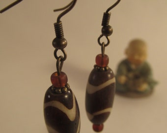 2029- Earrings Wood