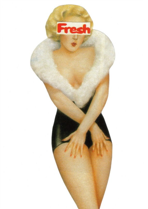 Https Etsy Com Listing 167892005 Original Collage On Paper Pin Up Art