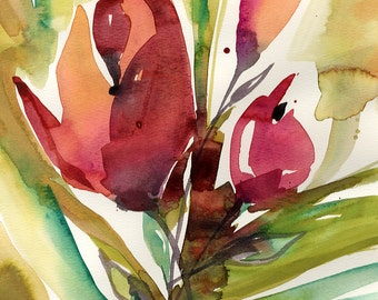 Floral... Series No.103 ... Original Abstract Flower Painting by Kathy Morton Stanion EBSQ