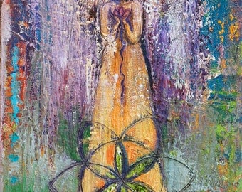Small Print Goddess Art - Our Lady of Heaven and Earth