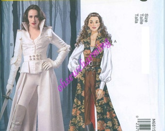 Once Upon a Time Costume Pattern McCalls 6819 Sewing Pattern Costume Sizes 14-16-18-20-22